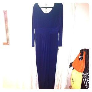 Calvin Klein Long sleeve navy gown
